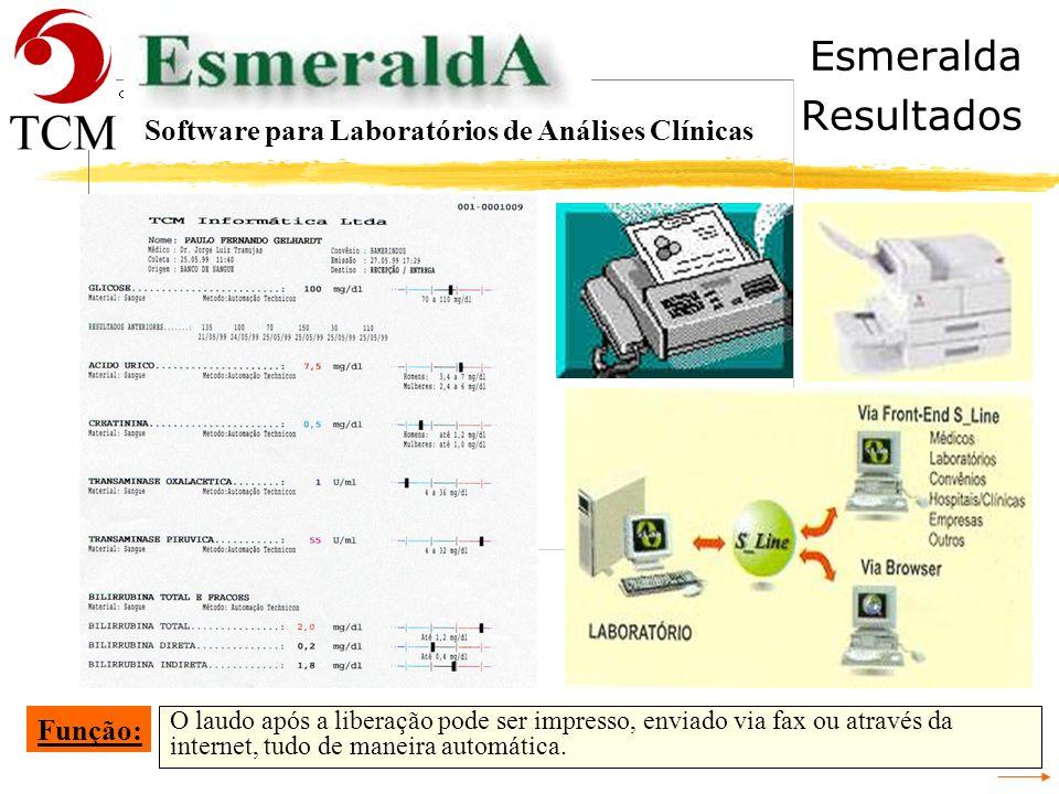 Esmeralda Resultados Software para Laboratórios de Análises Clínicas