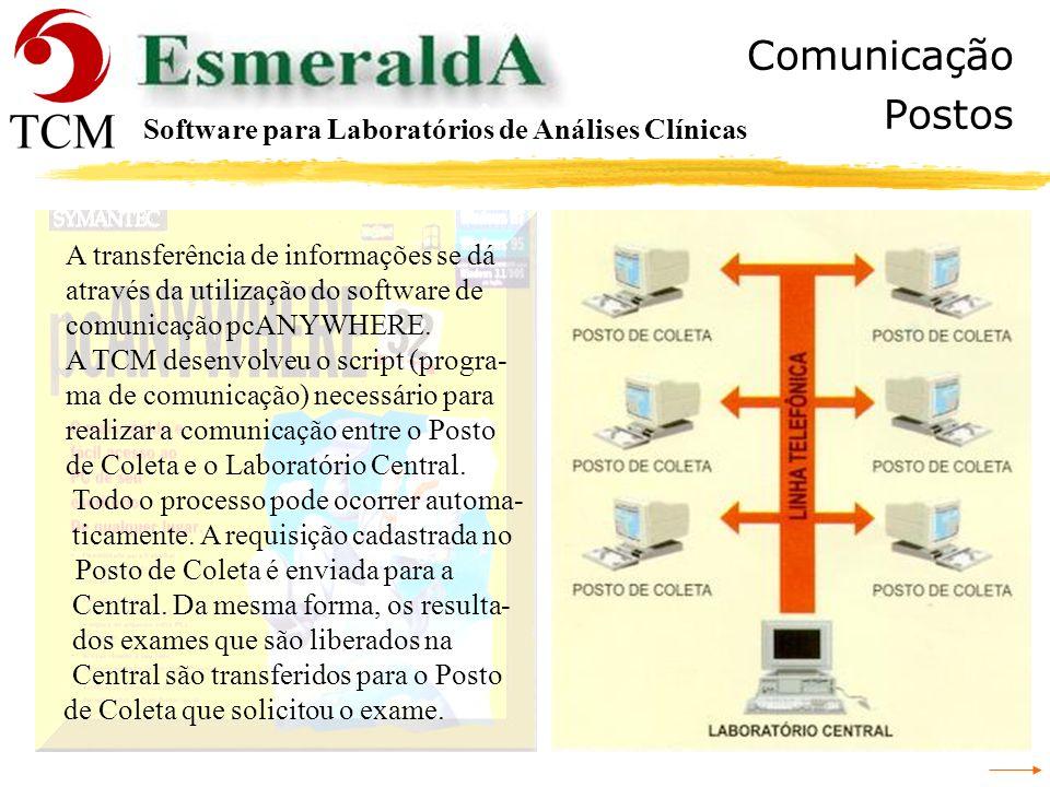 Comunicação Postos Software para Laboratórios de Análises Clínicas