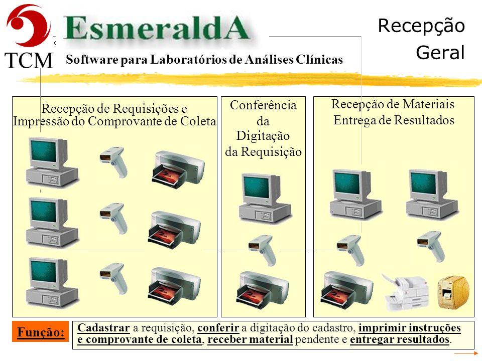 Recepção Geral Software para Laboratórios de Análises Clínicas