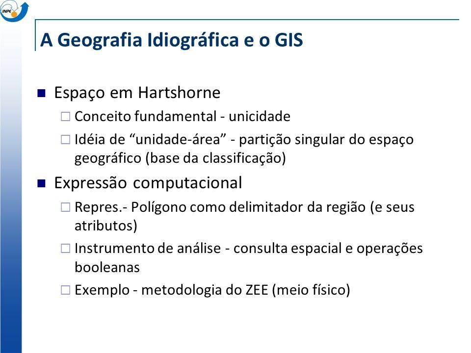 A Geografia Idiográfica e o GIS