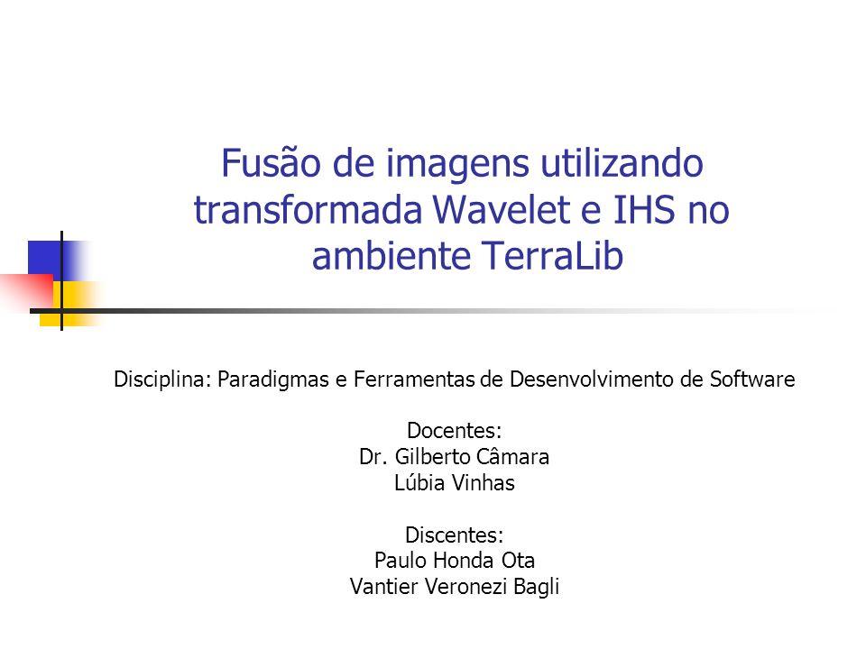 Fusão de imagens utilizando transformada Wavelet e IHS no ambiente TerraLib
