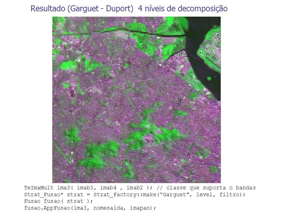 Resultado (Garguet - Duport) 4 níveis de decomposição