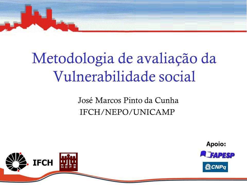 Metodologia de avaliação da Vulnerabilidade social