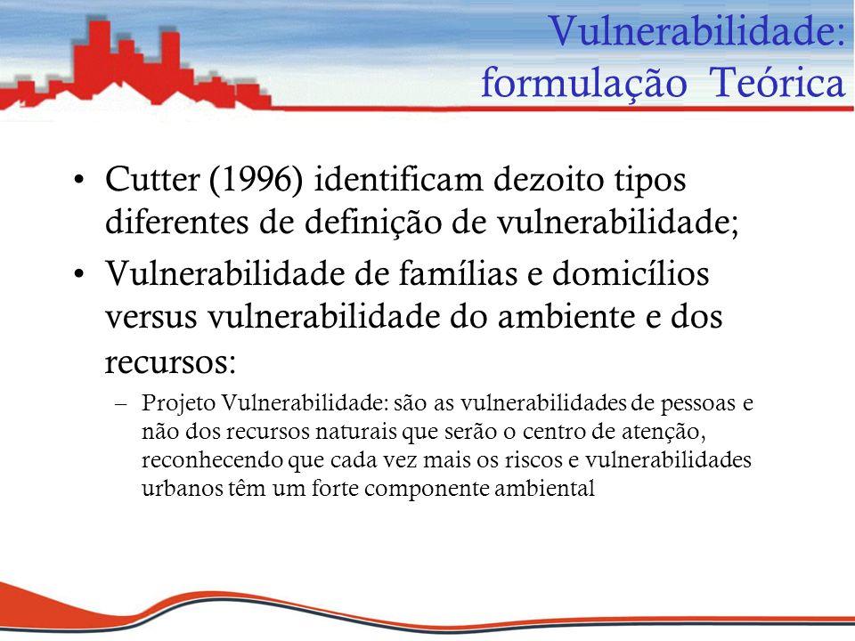 Vulnerabilidade: formulação Teórica
