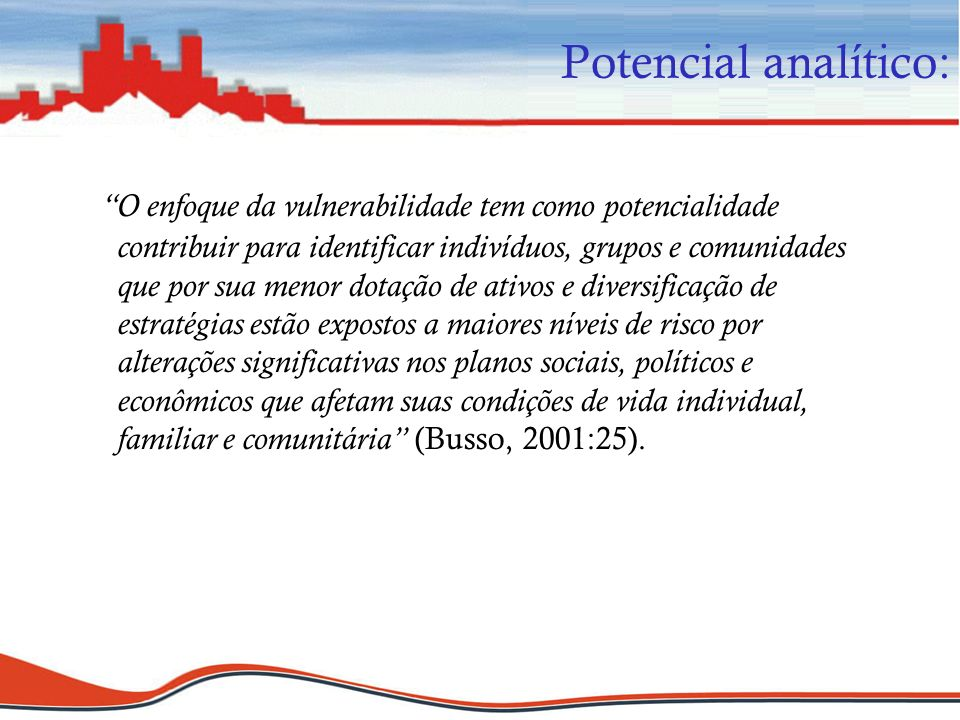 Potencial analítico: