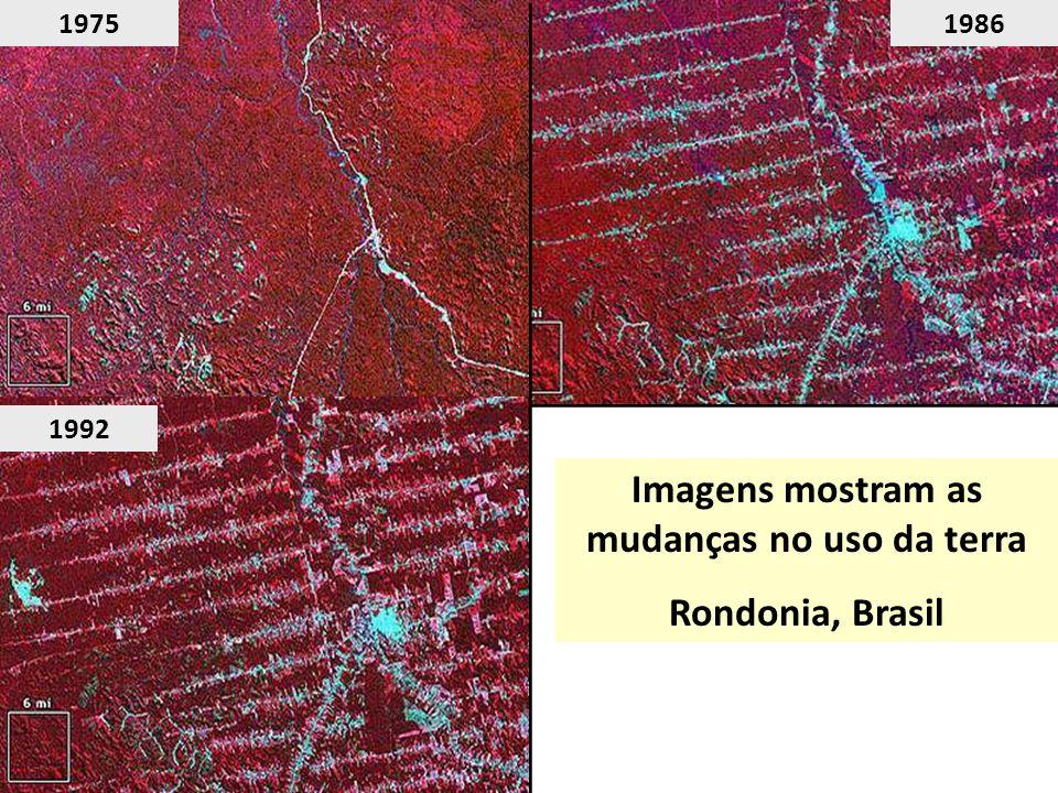 Imagens mostram as mudanças no uso da terra