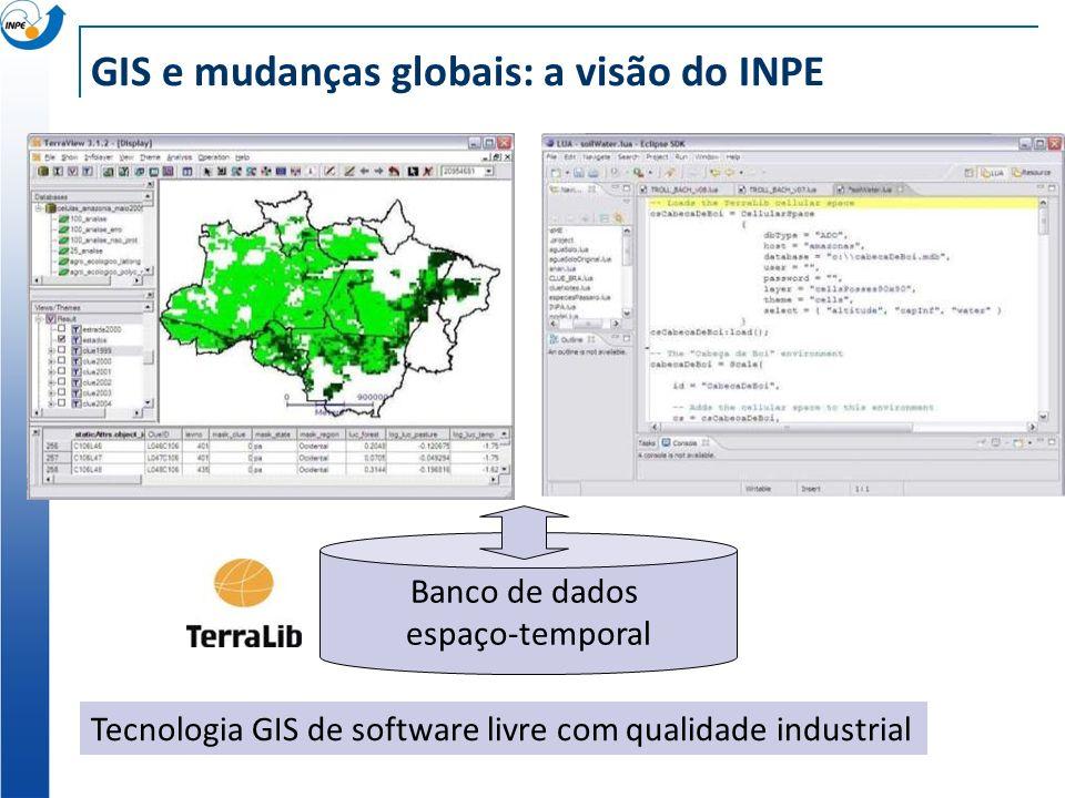 GIS e mudanças globais: a visão do INPE