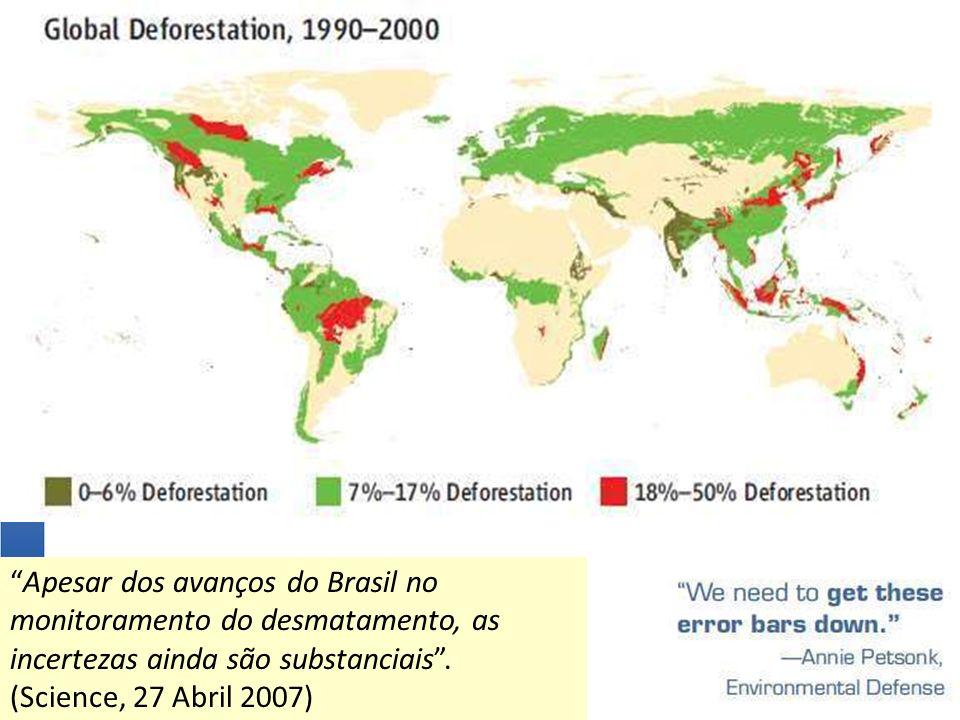 Apesar dos avanços do Brasil no monitoramento do desmatamento, as incertezas ainda são substanciais .