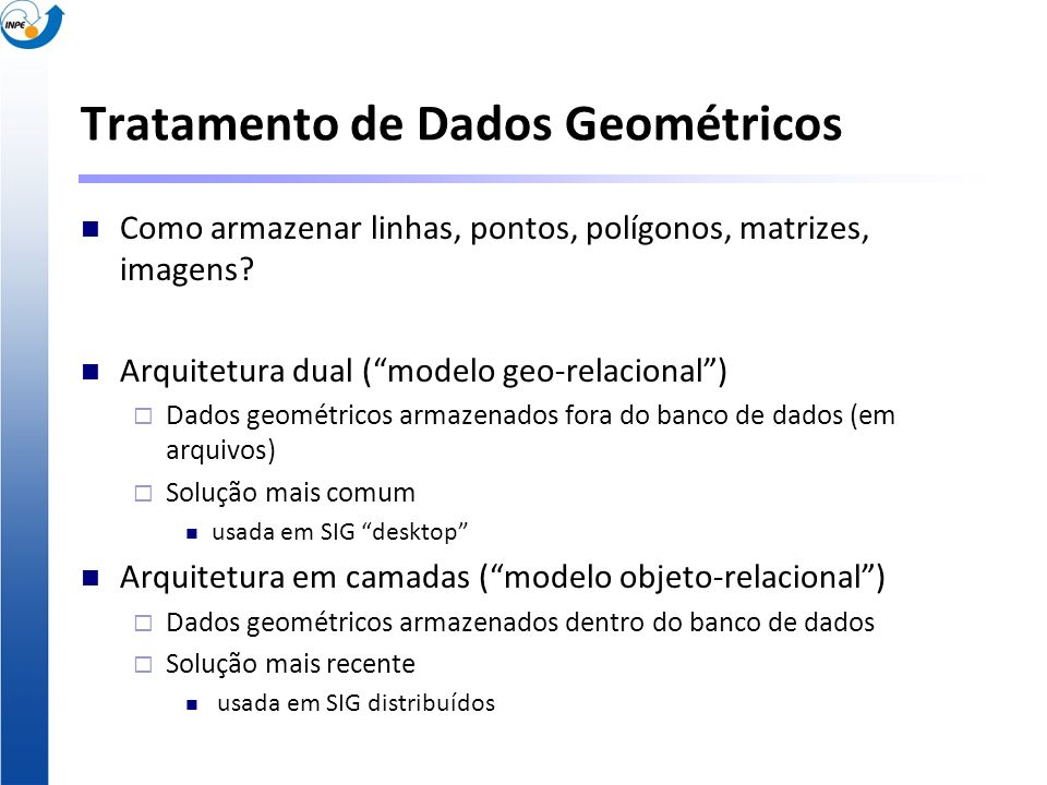 Tratamento de Dados Geométricos