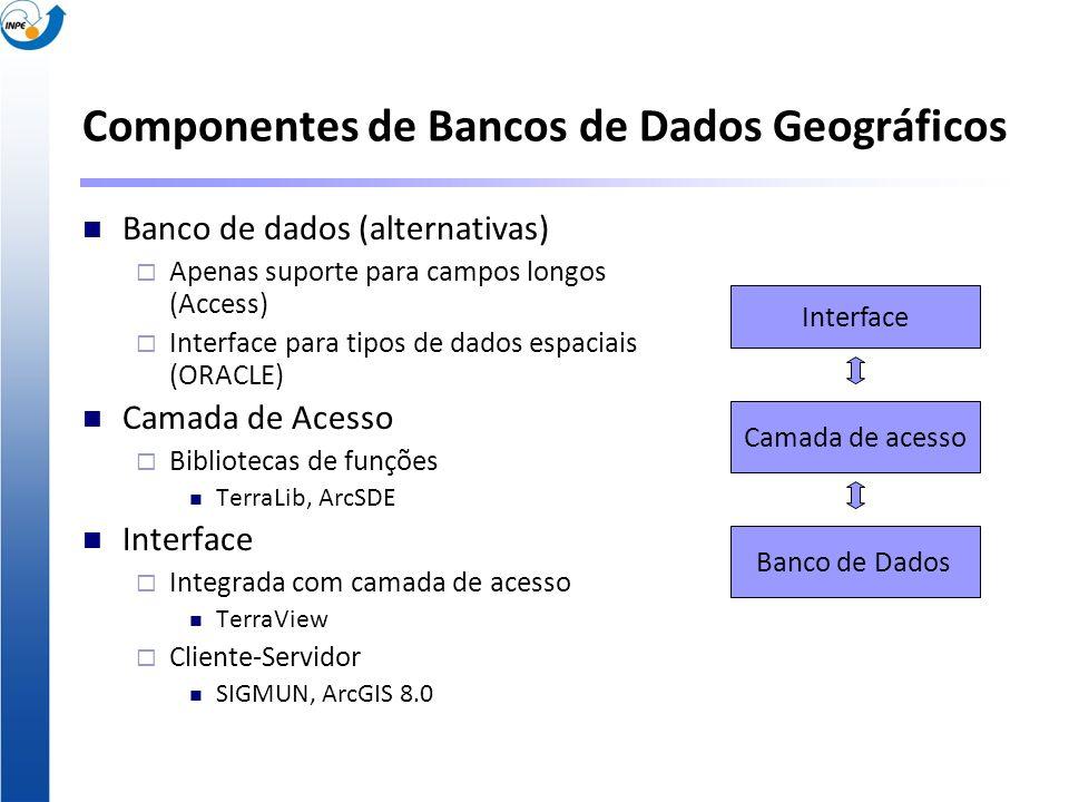 Componentes de Bancos de Dados Geográficos