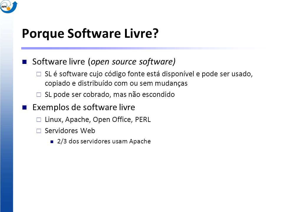 Porque Software Livre Software livre (open source software)