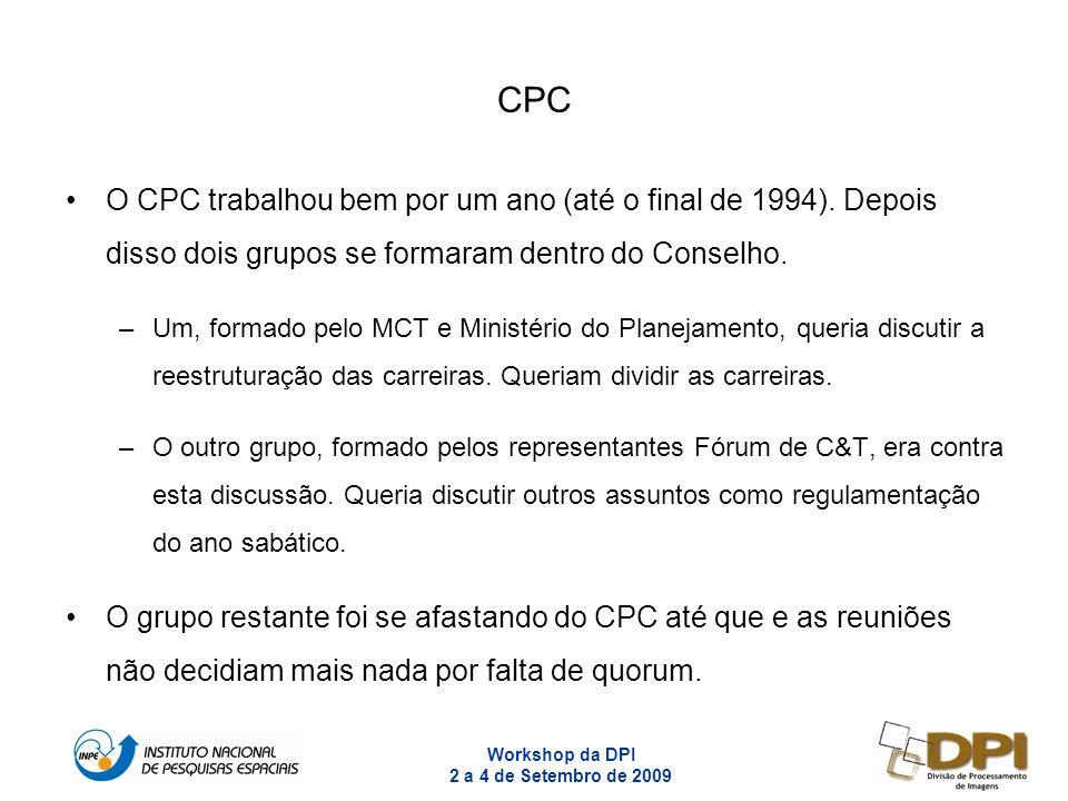 CPC O CPC trabalhou bem por um ano (até o final de 1994). Depois disso dois grupos se formaram dentro do Conselho.