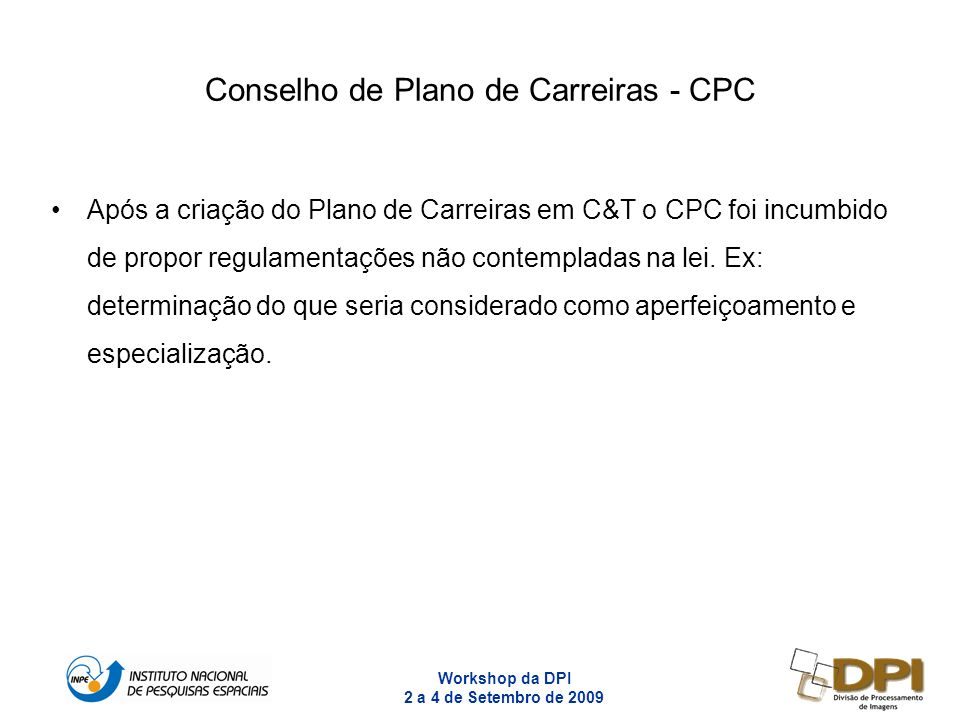 Conselho de Plano de Carreiras - CPC