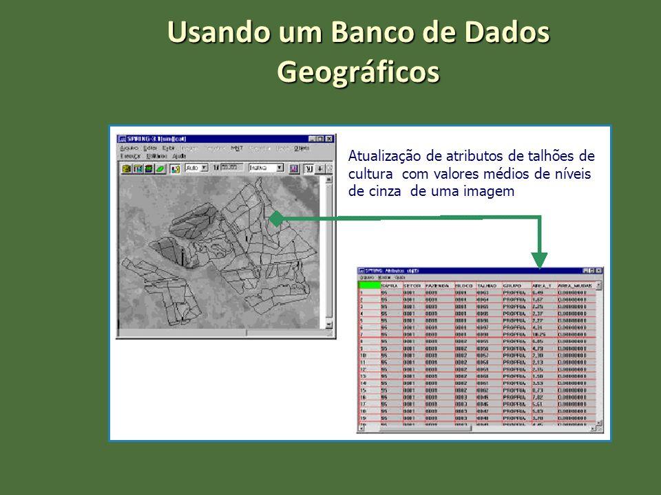 Usando um Banco de Dados Geográficos