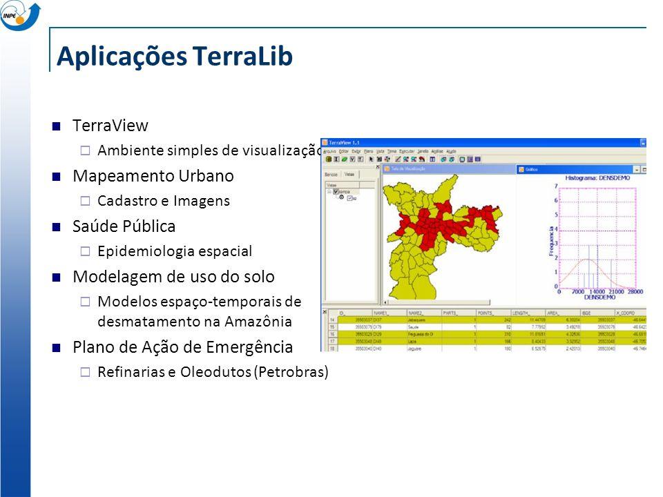 Aplicações TerraLib TerraView Mapeamento Urbano Saúde Pública