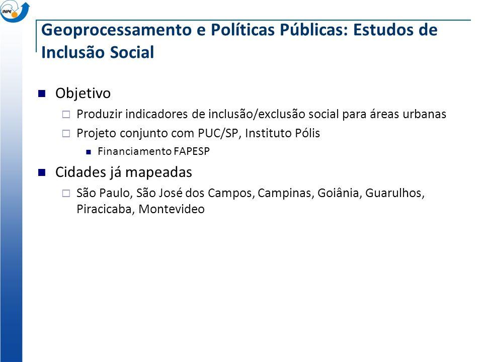 Geoprocessamento e Políticas Públicas: Estudos de Inclusão Social