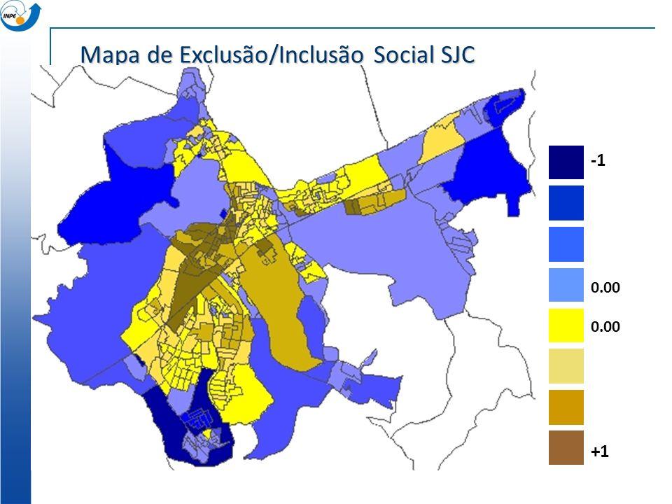 Mapa de Exclusão/Inclusão Social SJC
