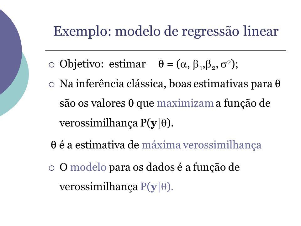 Exemplo: modelo de regressão linear