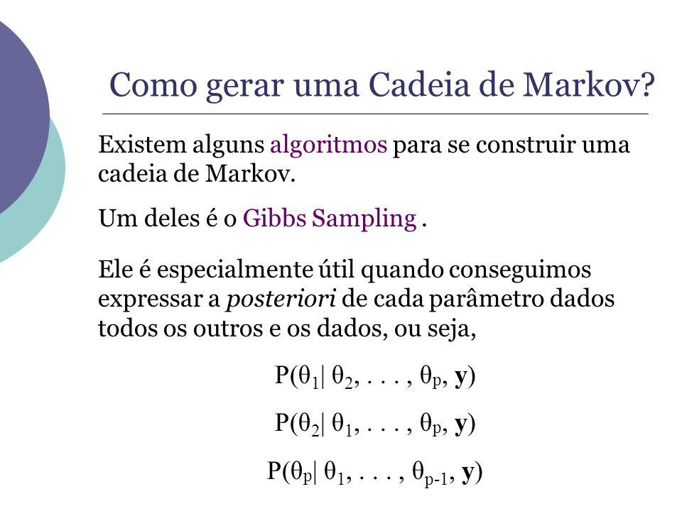 Como gerar uma Cadeia de Markov