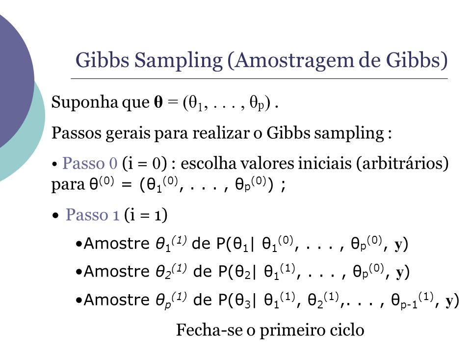 Gibbs Sampling (Amostragem de Gibbs)