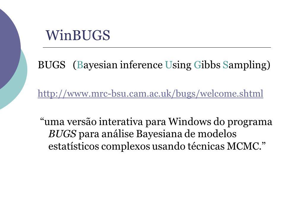 WinBUGS BUGS (Bayesian inference Using Gibbs Sampling)