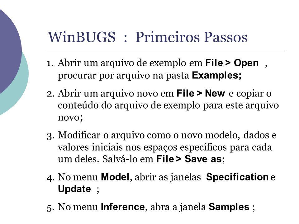WinBUGS : Primeiros Passos