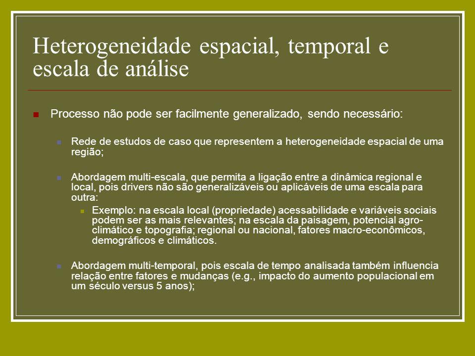 Heterogeneidade espacial, temporal e escala de análise