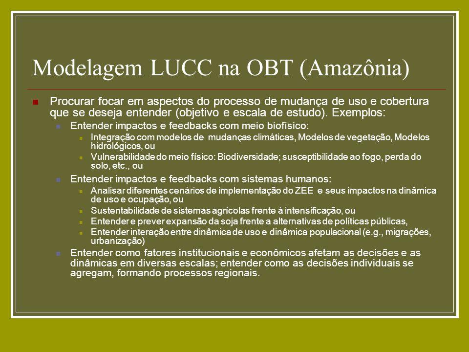 Modelagem LUCC na OBT (Amazônia)