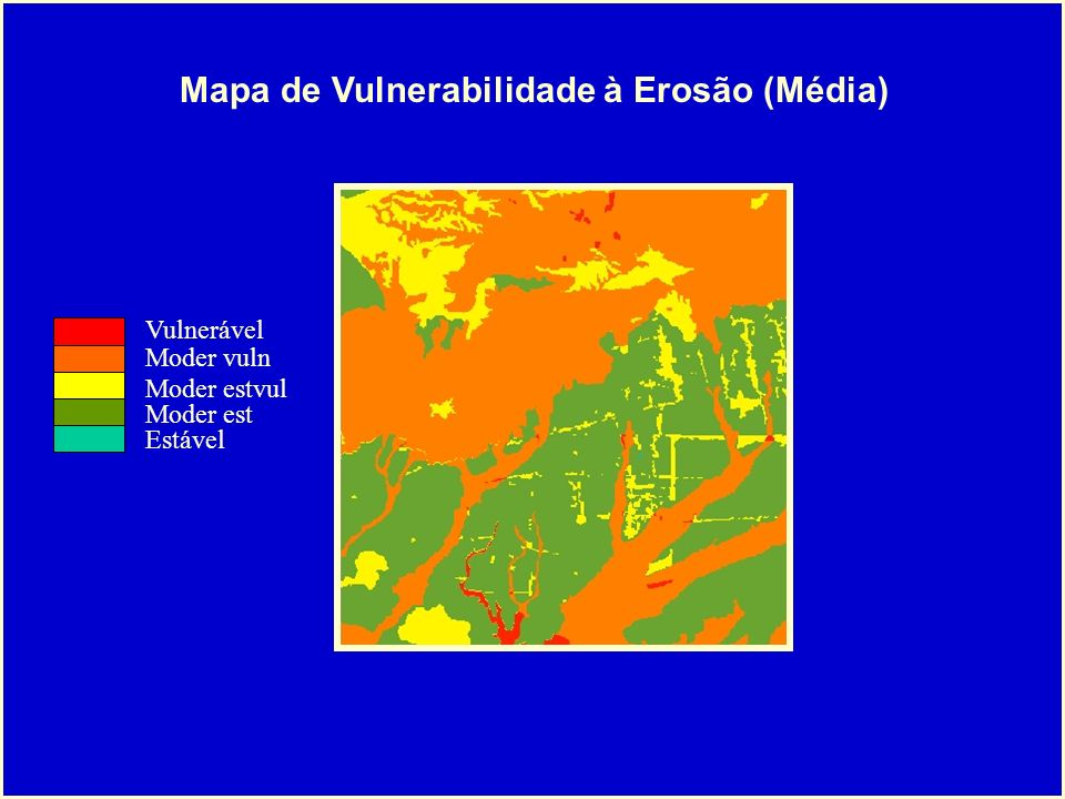 Mapa de Vulnerabilidade à Erosão (Média)