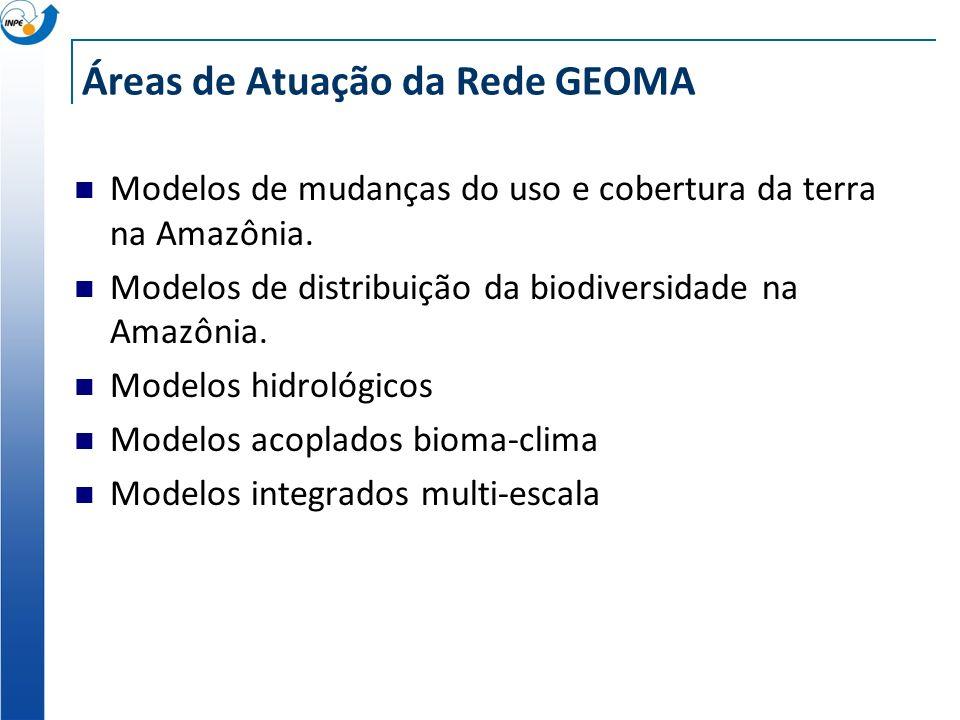 Áreas de Atuação da Rede GEOMA