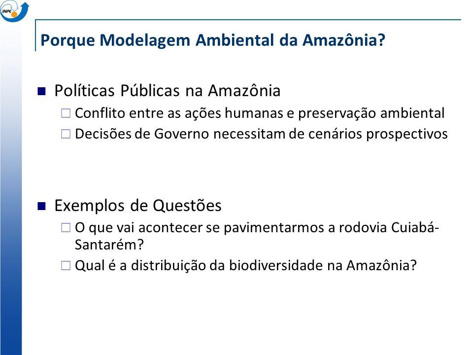 Porque Modelagem Ambiental da Amazônia