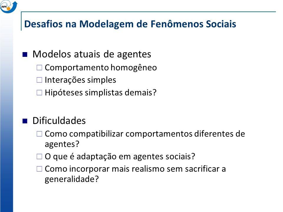 Desafios na Modelagem de Fenômenos Sociais