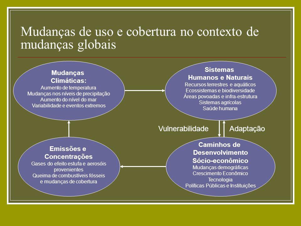 Mudanças de uso e cobertura no contexto de mudanças globais