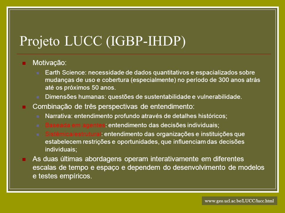 Projeto LUCC (IGBP-IHDP)