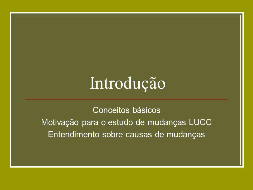 Introdução Conceitos básicos Motivação para o estudo de mudanças LUCC