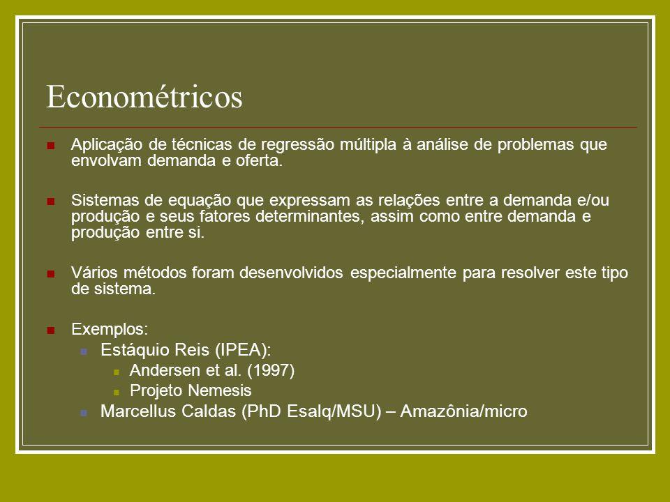 Econométricos Estáquio Reis (IPEA):