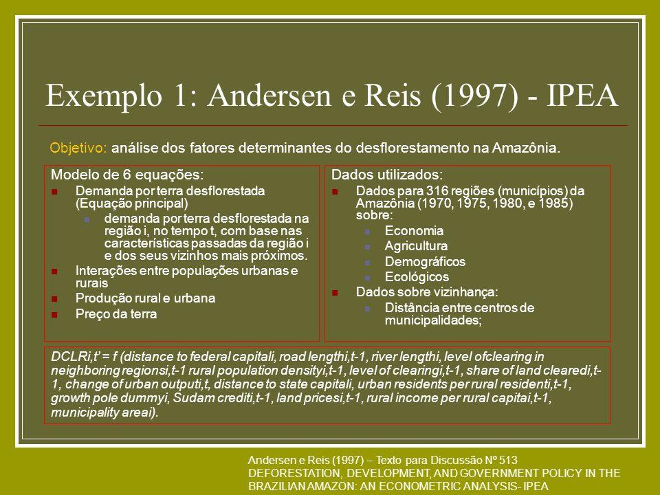 Exemplo 1: Andersen e Reis (1997) - IPEA