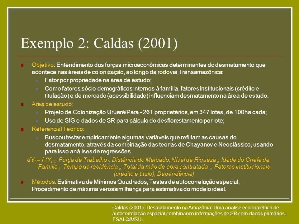 Exemplo 2: Caldas (2001)