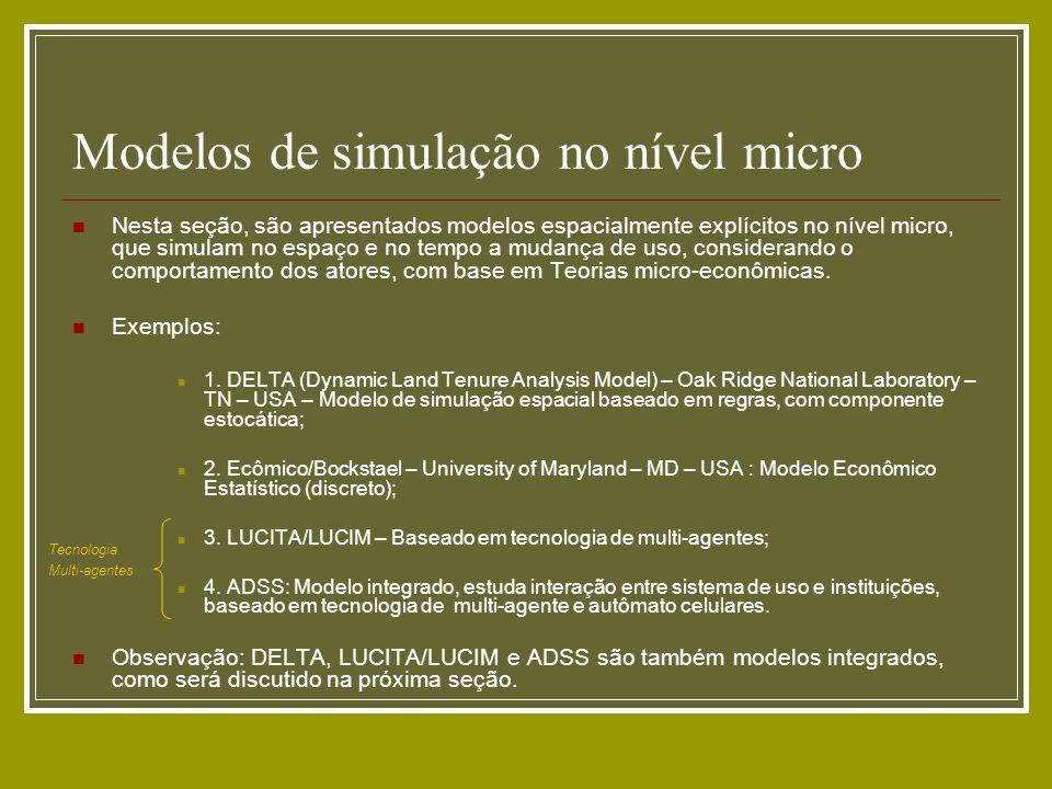 Modelos de simulação no nível micro