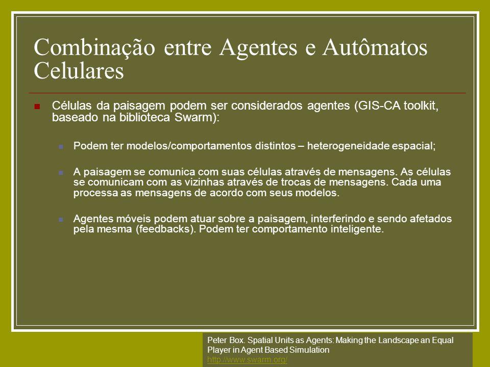 Combinação entre Agentes e Autômatos Celulares