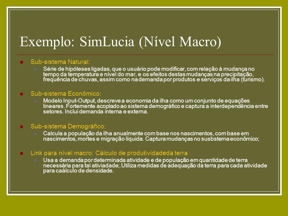 Exemplo: SimLucia (Nível Macro)