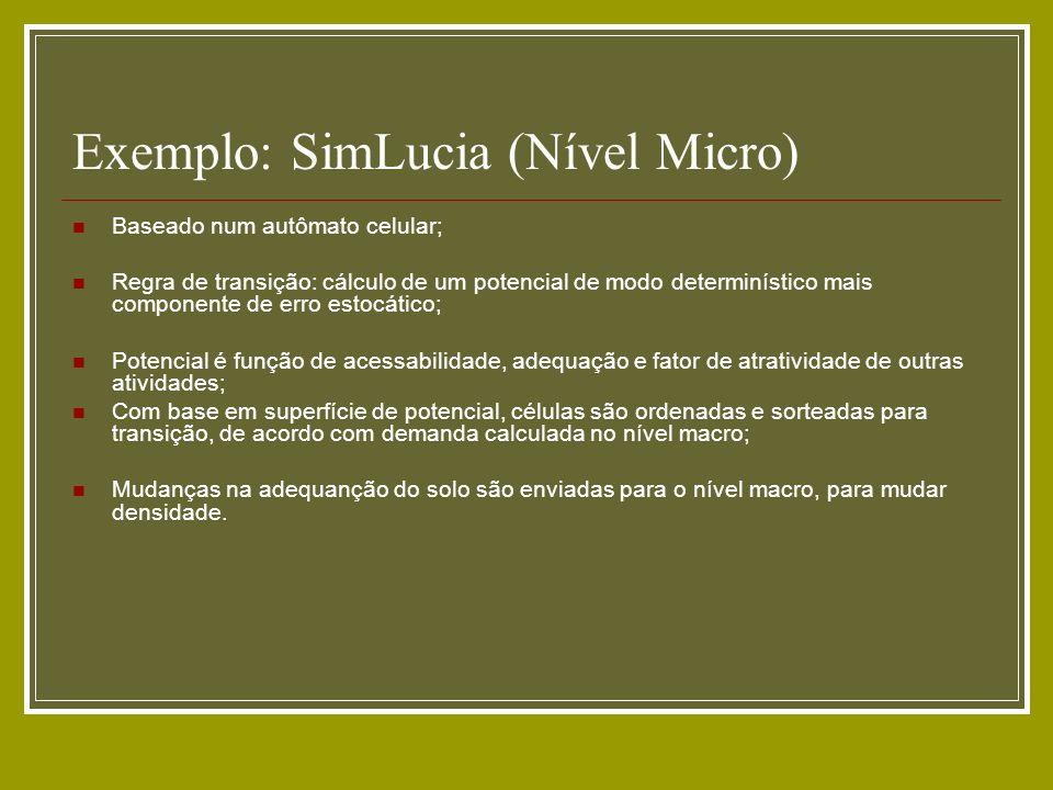 Exemplo: SimLucia (Nível Micro)