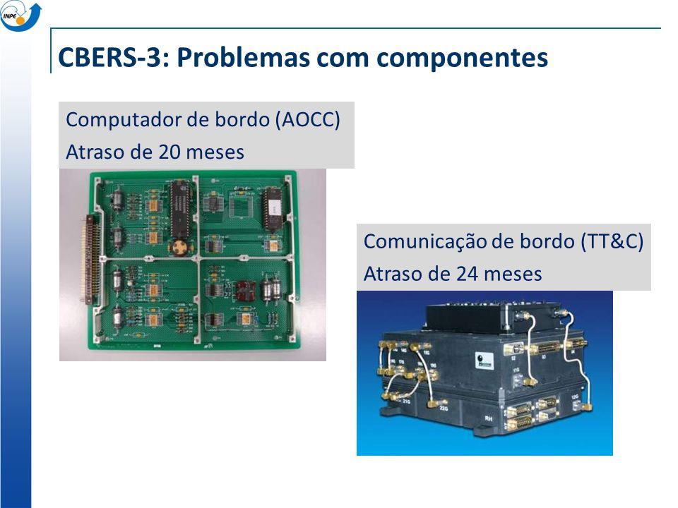 CBERS-3: Problemas com componentes