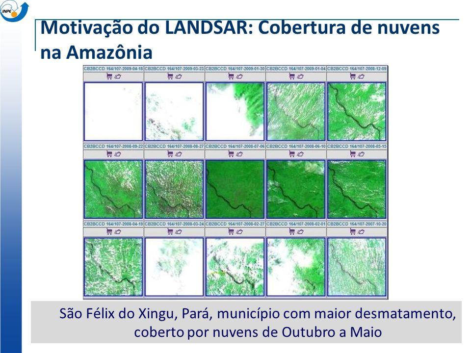 Motivação do LANDSAR: Cobertura de nuvens na Amazônia