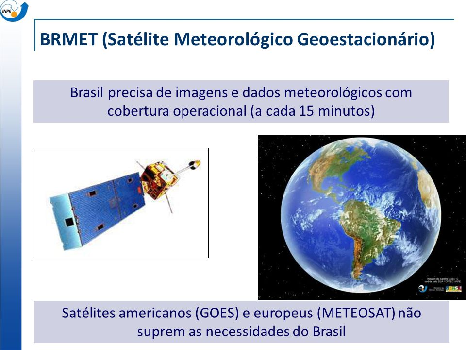BRMET (Satélite Meteorológico Geoestacionário)