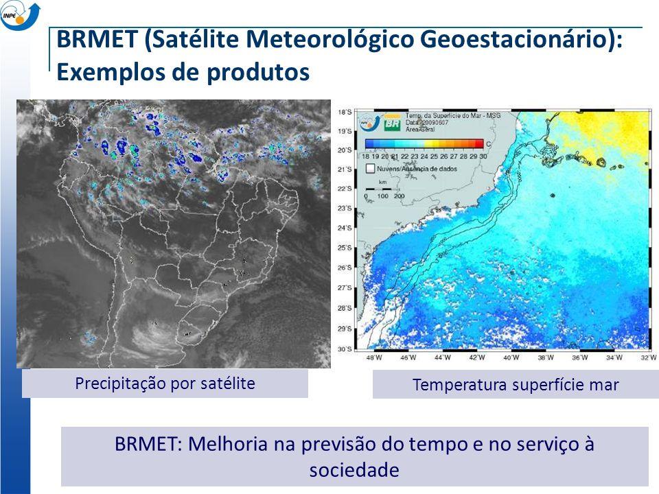 BRMET (Satélite Meteorológico Geoestacionário): Exemplos de produtos