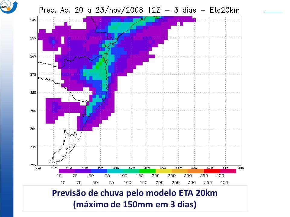 Previsão de chuva pelo modelo ETA 20km