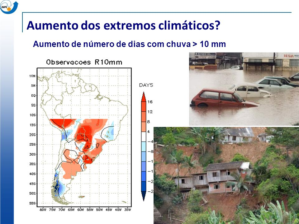 Aumento dos extremos climáticos