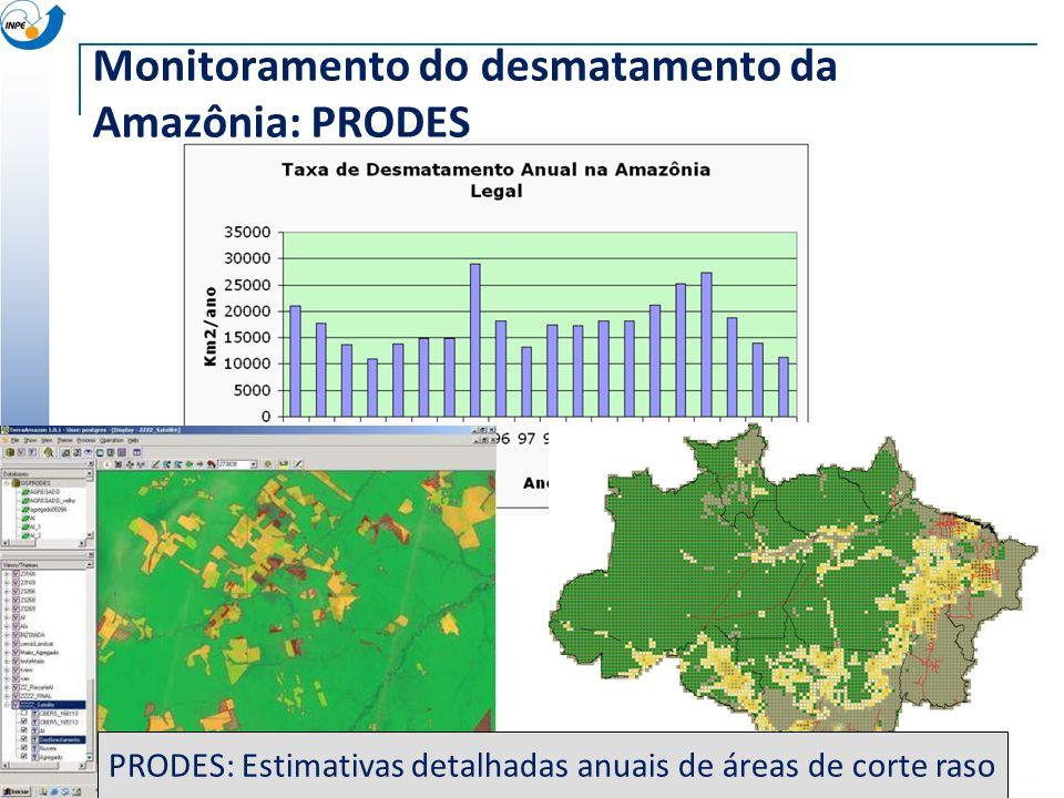 Monitoramento do desmatamento da Amazônia: PRODES