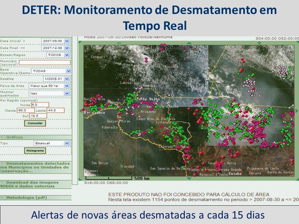 DETER: Monitoramento de Desmatamento em Tempo Real